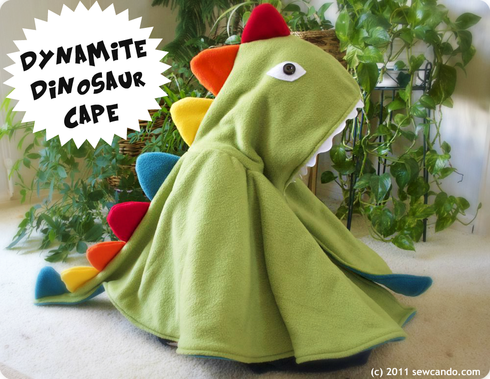 Sew Can Do Dynamite Dinosaur Cape Amp Kid S Costume Pattern