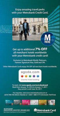 Metrobank Credit Card Promo Agoda