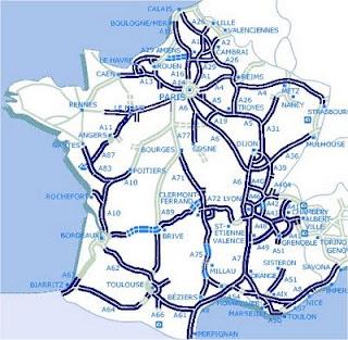 mapa estradas frança A Vida na França   La vie en France: As estradas da França mapa estradas frança