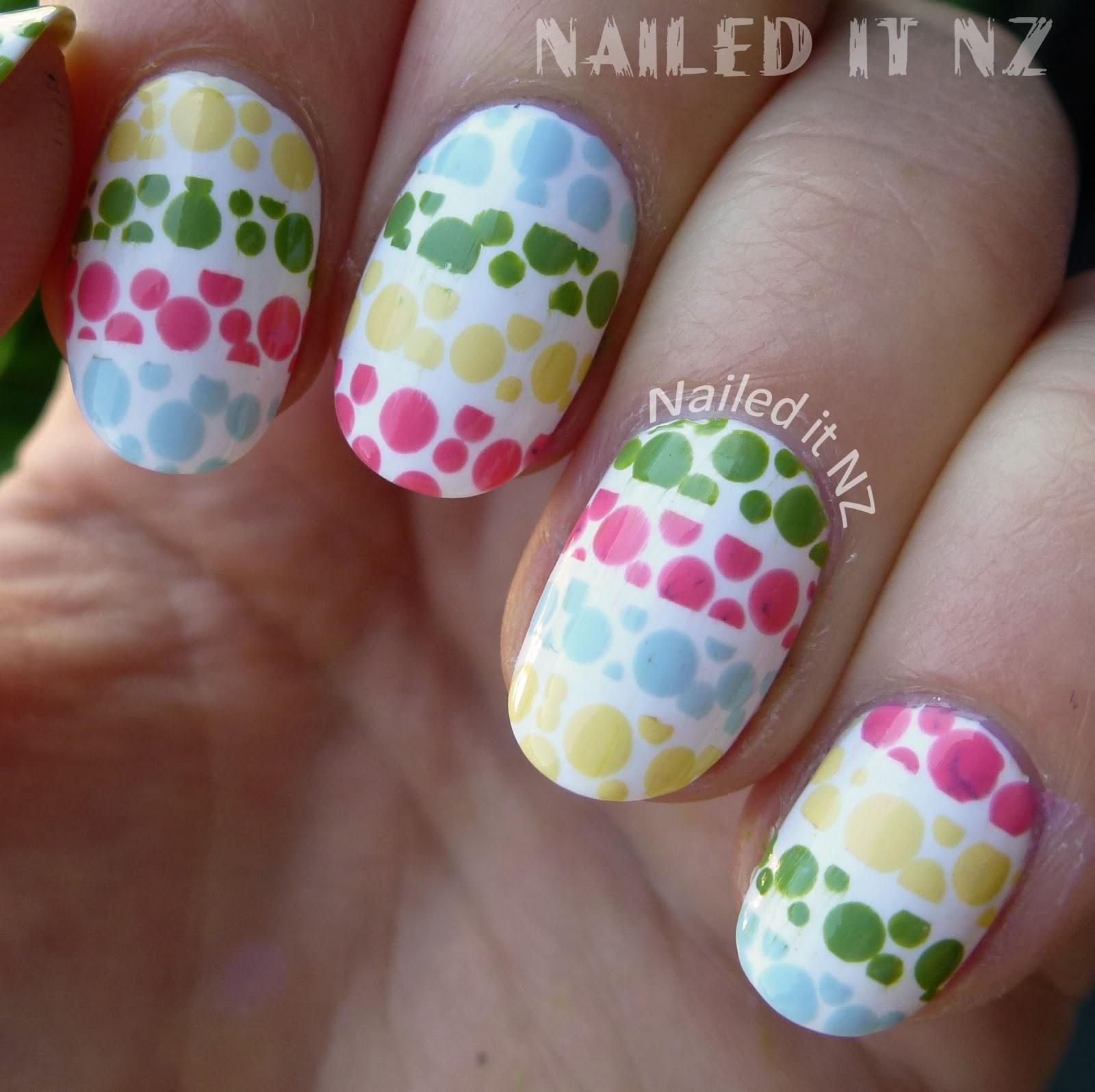 Polka Dot Nail Art: Polka Dot Stripes Nail Art Inspired By PackAPunchPolish