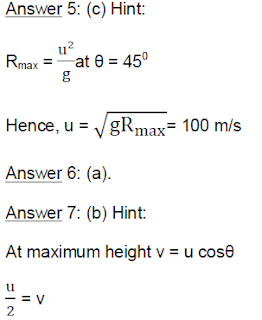 India Study Solution - Projectile Motion - Answers of Physics Problems image