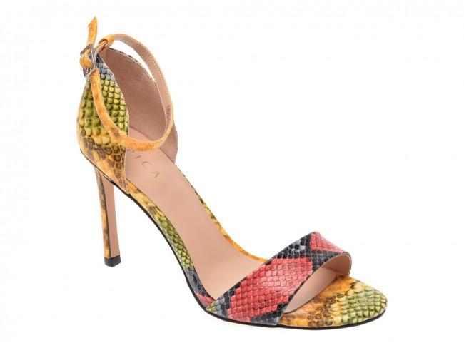 Sandale EPICA multicolore de evenimente din piele ecologica