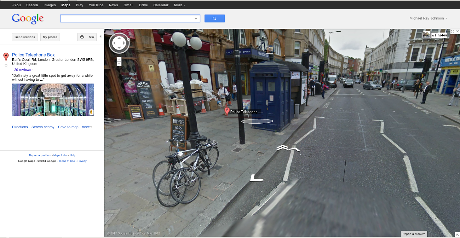 Of Dice and Pen: Doctor Who Easter Egg on Google Maps Dr Who Google Maps on
