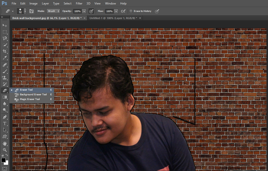 Cara Membuat Foto Mural / Lukisan Tembok di Photoshop