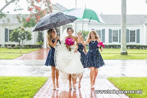 bodas bajo la lluvia