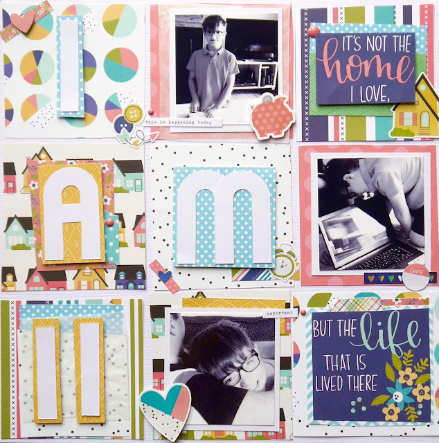 Scrapbook Page Simple Stories Domestic Bliss by Katherine Sutton