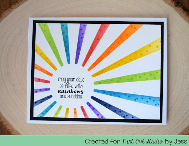 Rainbow Greeting Card by Jess Gerstner for Min Owl Studio Share the Love