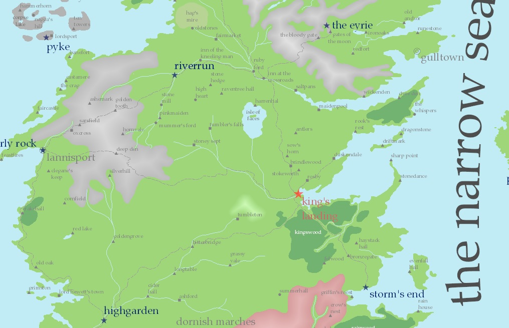 GIS Research and Map Collection: Game of Thrones Map