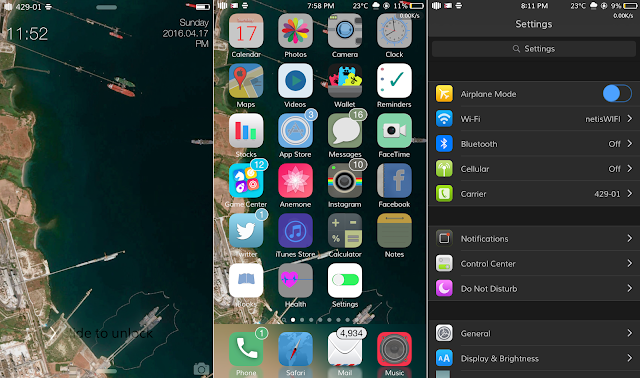 we want a completely new looks on iOS X