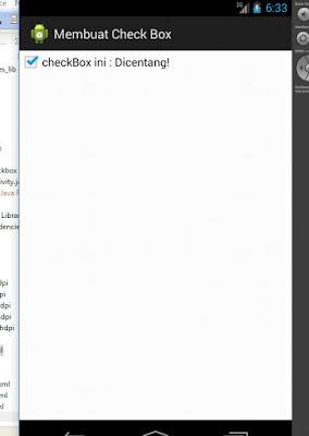 Tutorial Android 5 - Membuat Check Box