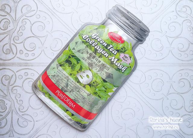Коллагеновая маска с экстрактом зеленого чая от Purederm