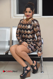 Actress Madhavi Latha Pictures in Short Dress at On Mona Birthday Premiere 0058