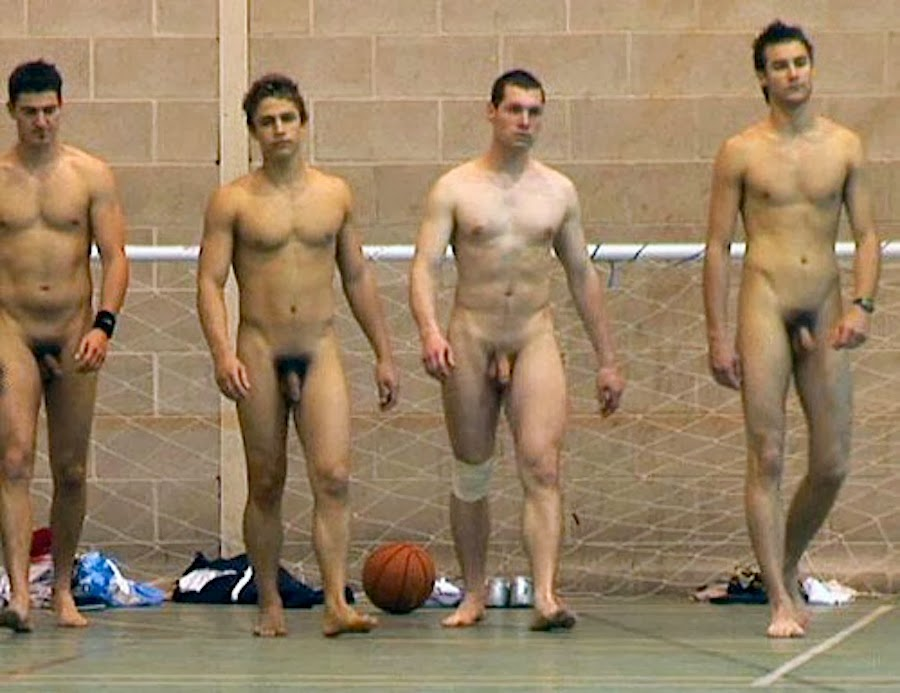 Naked men in sport