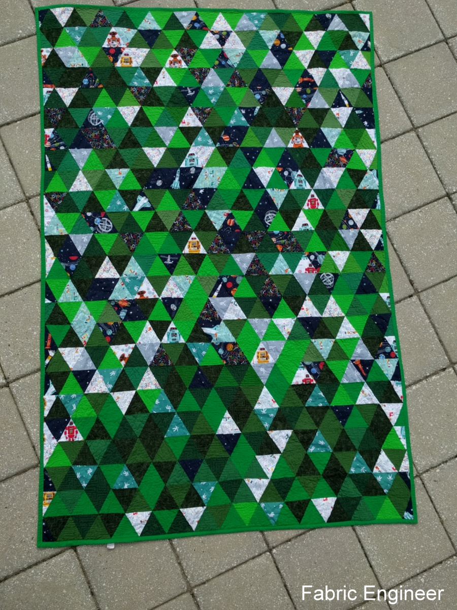 Fabric Engineer Robot Quilt Finished Circuit Board I Couldnt Decide What Wanted To Do So Did Half Maze Or And