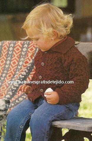 Chambrita o chaquetita para niño de 2 años tejida al crochet paso a paso