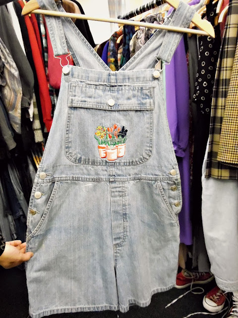 cheap, vintage dungarees at lou lou's vintage fair, Cardiff | ACupofT