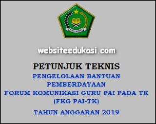 Juknis Bantuan FKG PAI TK Tahun Anggaran 2019