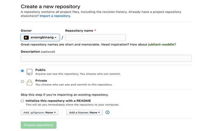 Hosting Gratis CSS dan JavaScript di GitHub