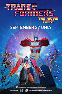Fathom Events Transformers the Animated Movie in theaters September 27th