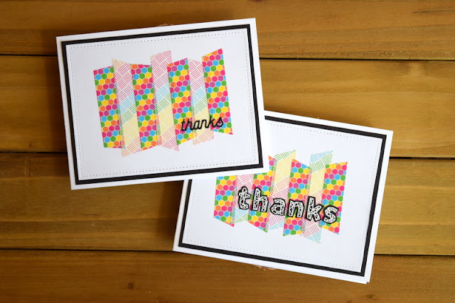 Washi Tape Thank You Card by Jess Crafts featuring Create a Smile