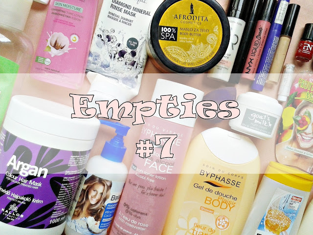 empties, potroseni proizvodi, balea, afrodita, byphasse, avon, kallos, nyx, golden rose, bioten, dove, labello, nikel, ziaja