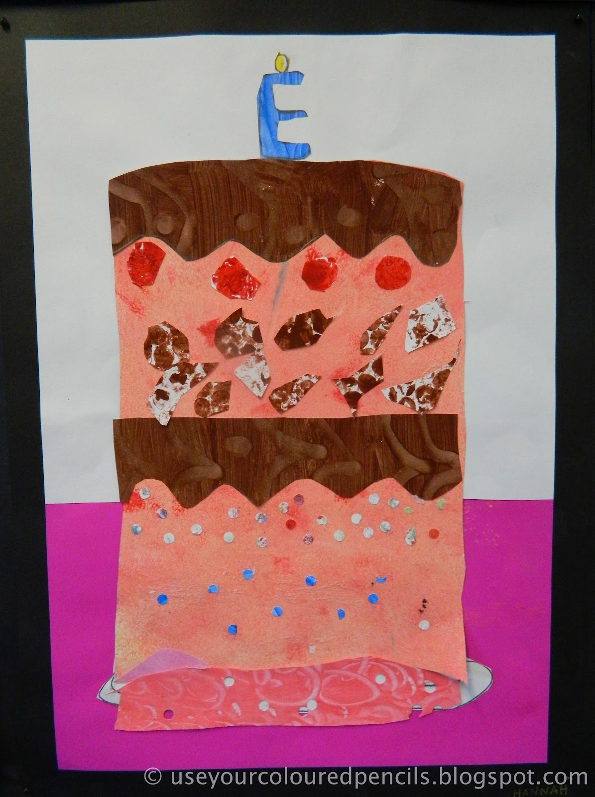 Use Your Coloured Pencils: Eric Carle's Birthday Cake