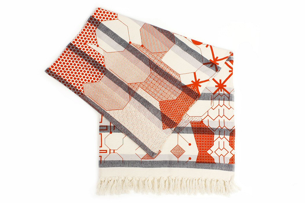 Fouta orange Ma Poésie