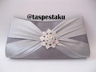 Tas Pesta Mewah dan Cantik Unik Warna Silver