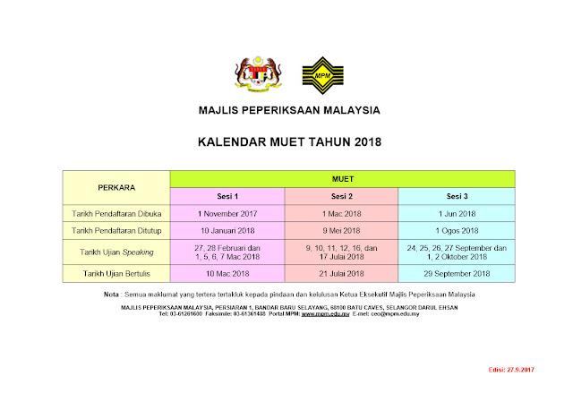 jadual-Muet-2018