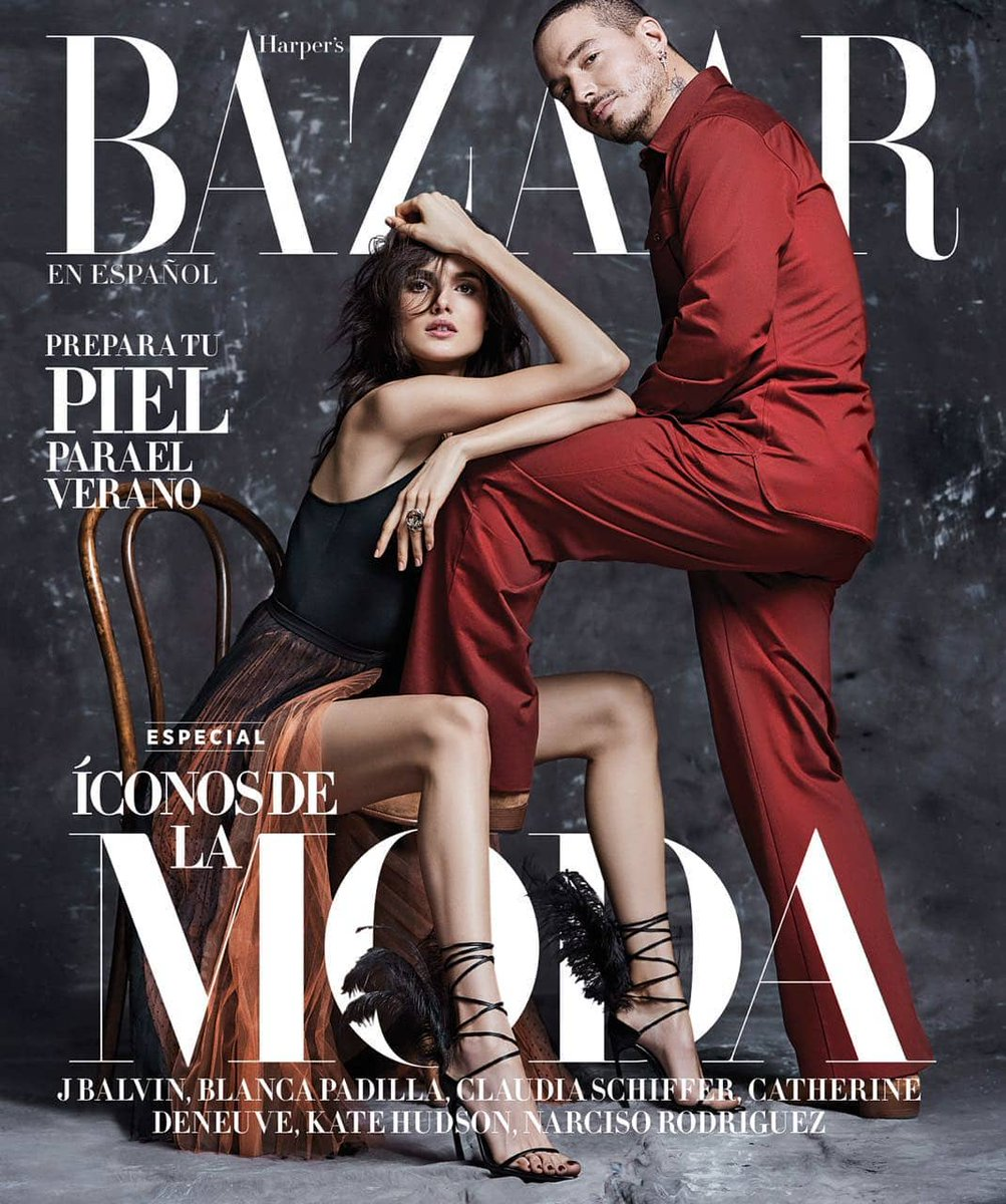 Blanca Padilla y J. Balvin para Harper's Bazaar Mexico Junio 2018