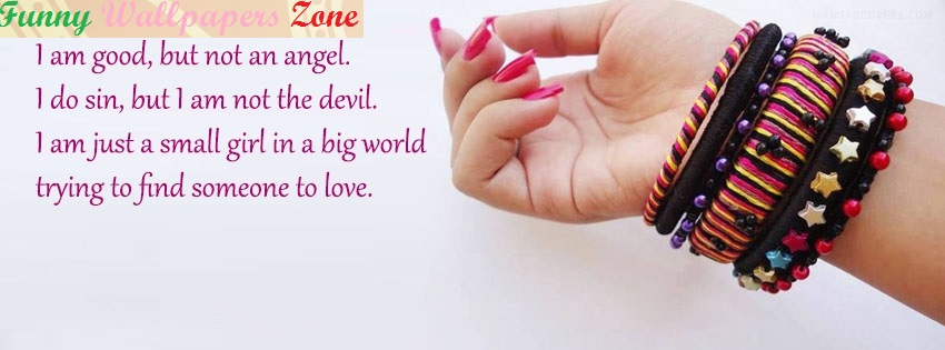 Facebook Covers For Girls I Am Good But Not Angel