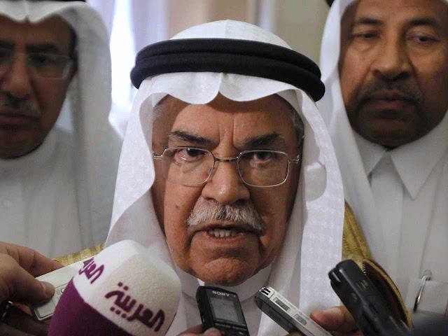 Ministro saudita do Petróleo Ali al-Naimi, Rijad, 9/10/2012