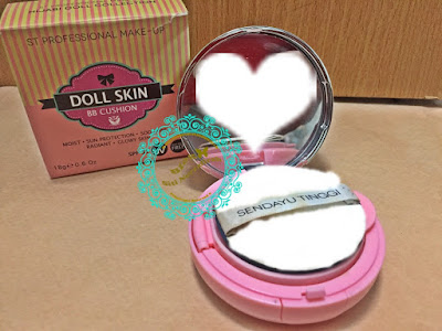 Sendayu Tinggi Doll Skin BB Cushion , outlet sendayu tinggi, dealer, insta seller, review bb cushion, bb cushion terbaik, effect glowing, radiant skin, tahan lama, jimat, murah, comel, paraben free, spf tinggi,