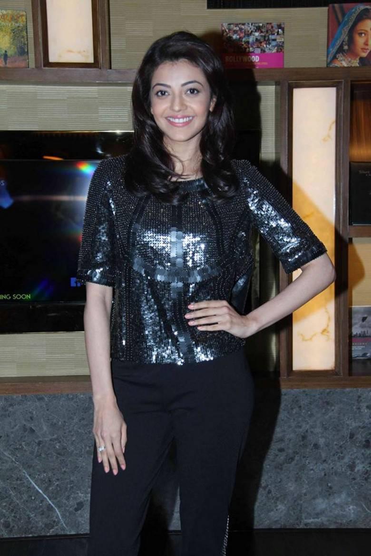 Kajal Agarwal At Movie Trailer Launch In Black Dress
