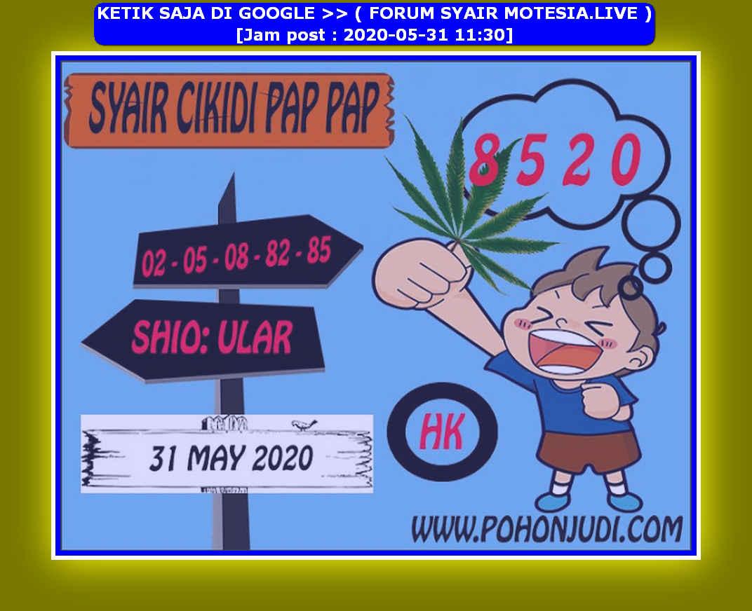 Kode syair Hongkong Minggu 31 Mei 2020 261