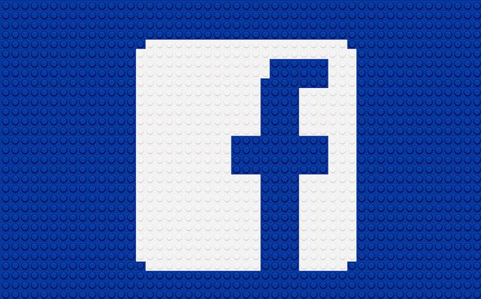 Logotipo Facebook usando LEGO