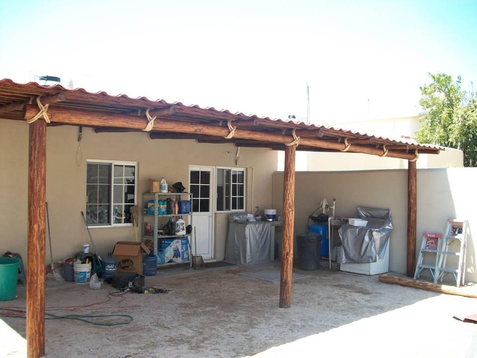 Rey de california tipos de techos rusticos pergolas y for Tipos de laminas para techos de casas