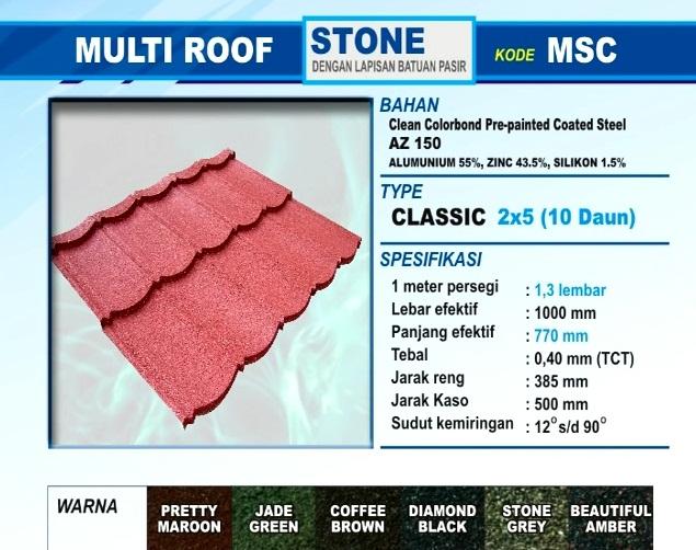 Genteng Metal Multi Roof Dari SiMantap