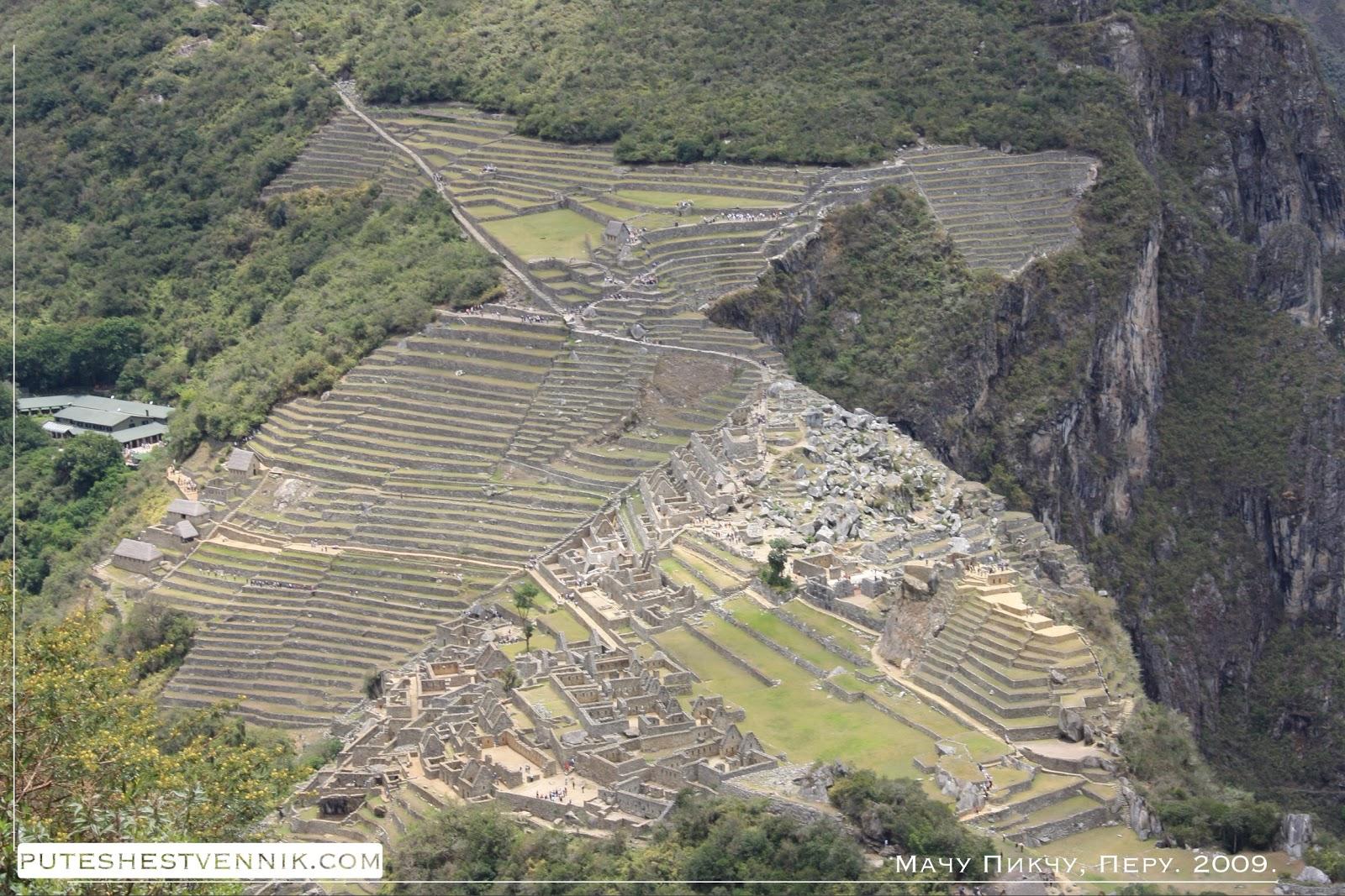 Вид на Мачу-Пикчу с высоты