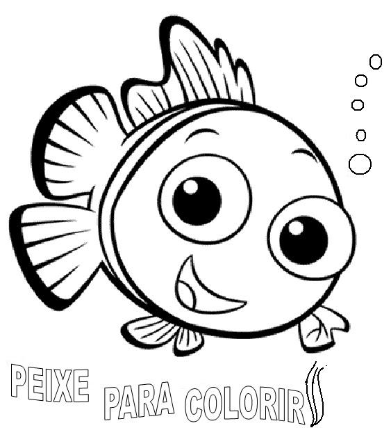 Desenhos Para Colorir: Desenhos De Peixes Para Colorir