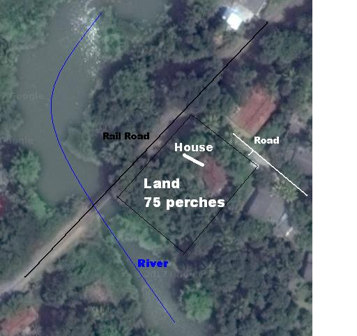 Satalite Map with Instructions - Kandy Land for sale