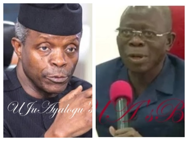 Osinbajo, Oshiomhole Meet In Aso Rock