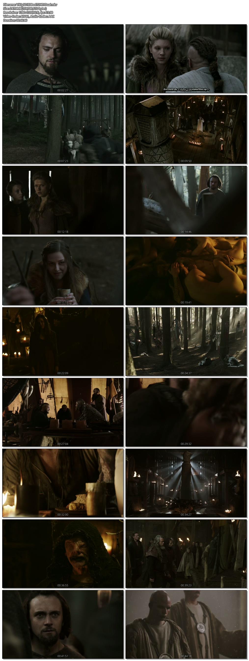 Screenshots Of Hindi Dubbed Show Vikings 2013 Season 01 Episode 08 300MB 720P HD