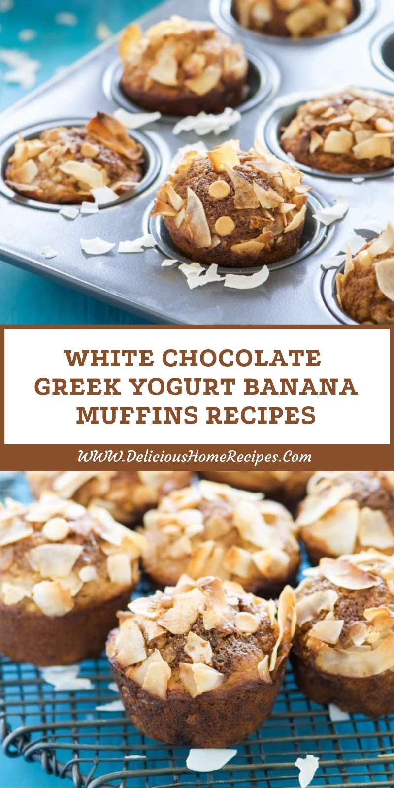 White Chocolate Greek Yogurt Banana Muffins Recipes