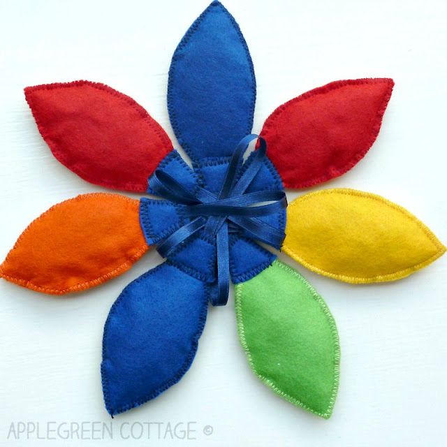 Colorful Christmas Felt Lights ornaments