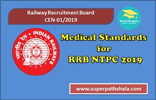 Medical Standards for RRB NTPC 2019 | Complete Information | CEN 01/2019