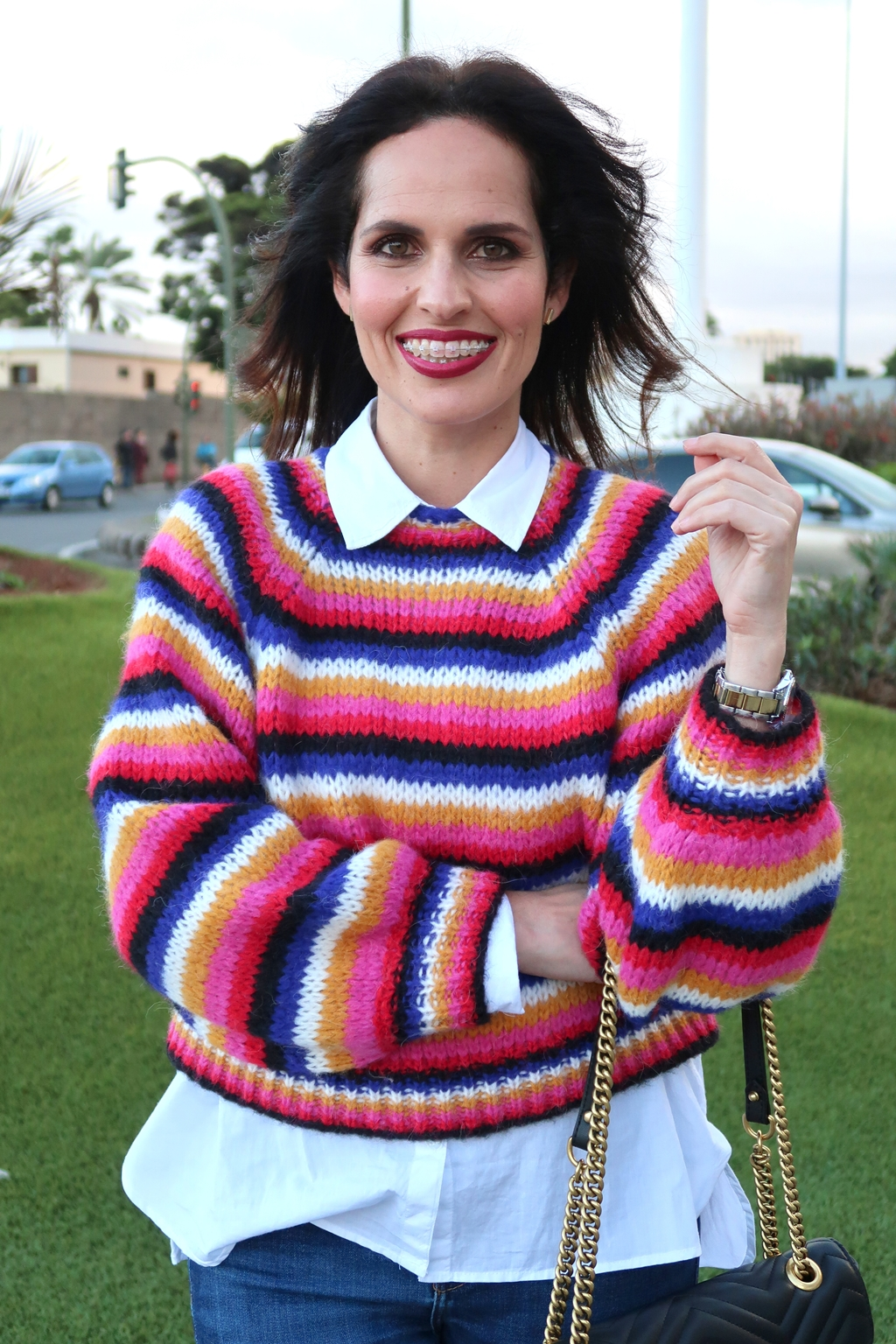 zara-colorful-stripes-marsala- lipstick