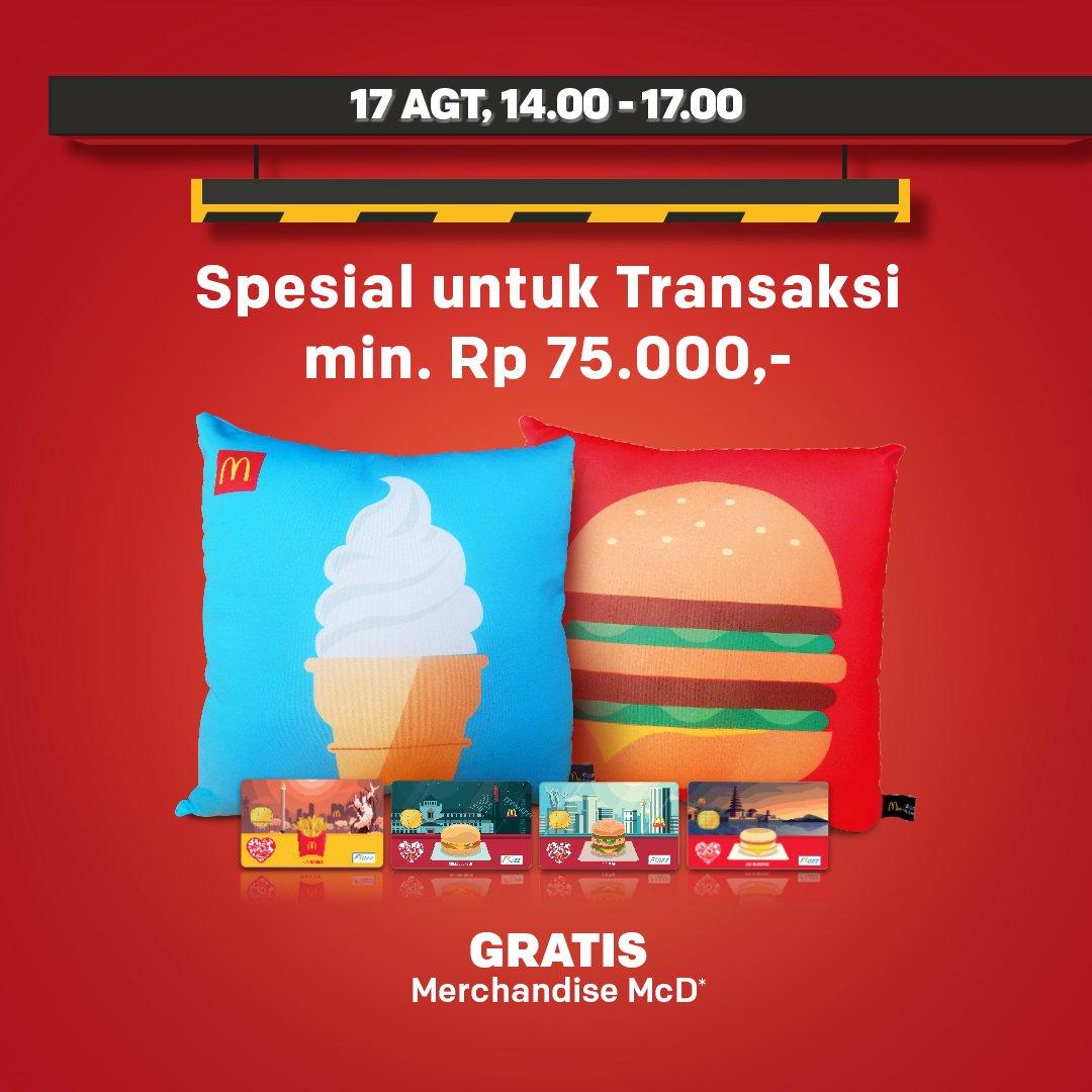 McDonald's - Agustusan Seru Lewat Drive Thru (Buy 1 Get 1 Free)