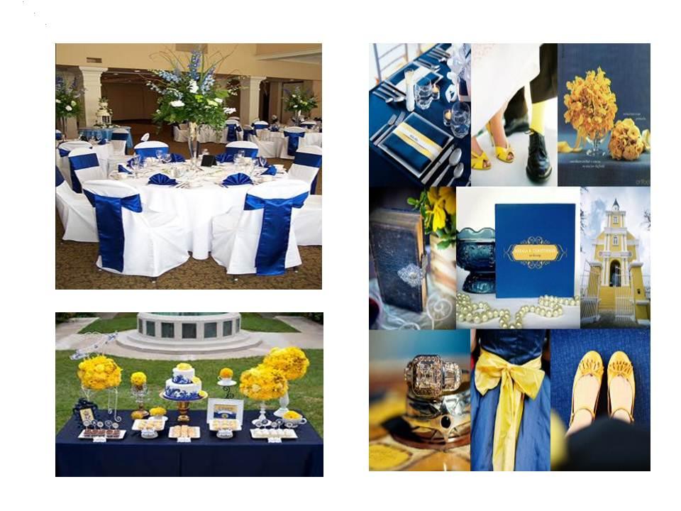 Royal Blue Yellow Wedding