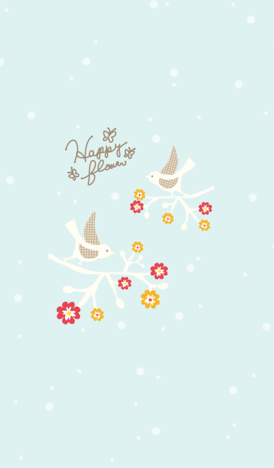 Happy flower-Mr. bird x light-blue-